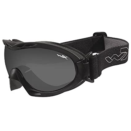 32c19d24bd1c Amazon.com : Wiley X Nerve Goggles Smoke Grey Clear Lens Matte Black Frame  : Safety Glasses : Sports & Outdoors
