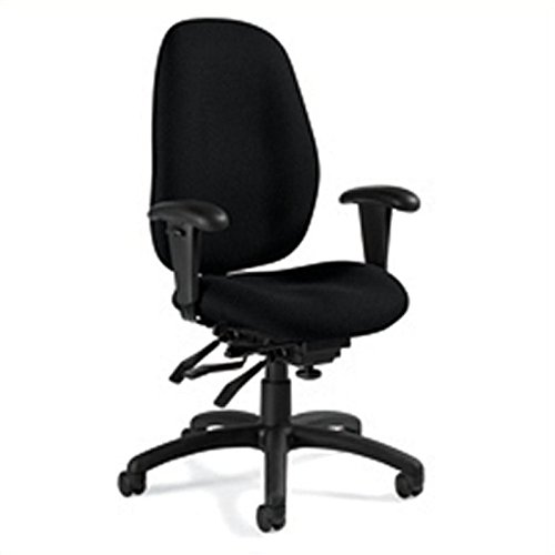 Global Malaga High Back Multi Tilter Office Chair in Black ()