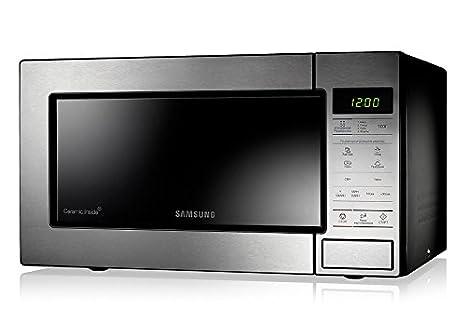 Samsung GE83M Encimera 23L 1200W Acero inoxidable - Microondas (Encimera, 23 L, 1200 W, Tocar, Acero inoxidable, Apertura por empuje): Amazon.es: Hogar