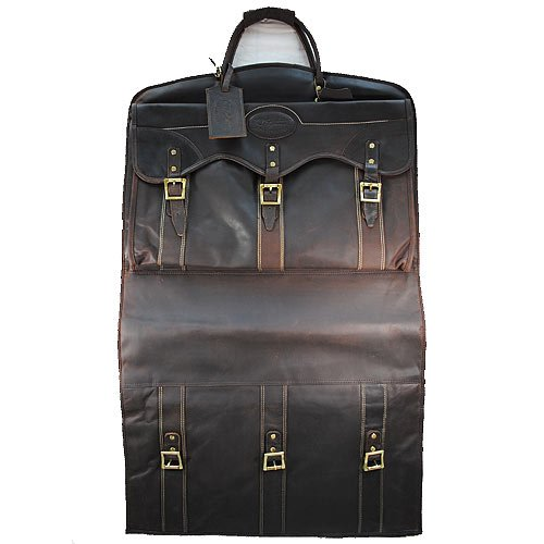 GB101-F KD STEPHENS GARMENT BAG LUGGAGE SUITCASE RUGGED LEATHER by KDSTEPHENS