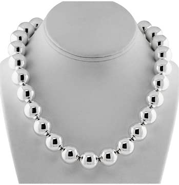 Amazon Com Tiffany Co Sterling Silver 16 Mm Bead Necklace Jewelry