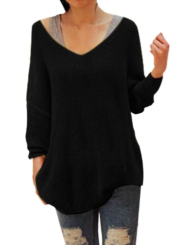 Ladies Scoop Neck Stretchy Long Sleeve Knitted Tunic Top