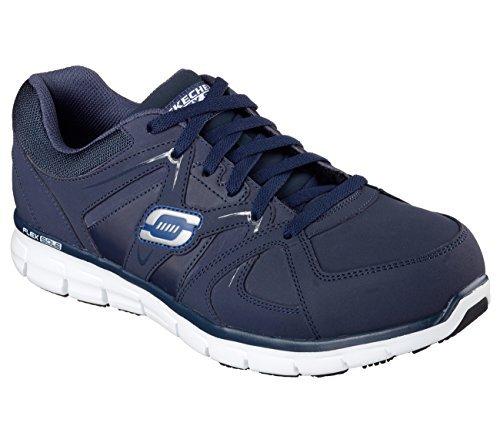 Skechers for Work Men's Synergy Ekron Alloy Toe Work Shoe,Navy,12