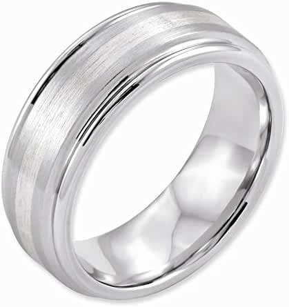Top 10 Jewelry Gift Cobalt Sterling Silver Inlay Satin and Polished 8mm Band
