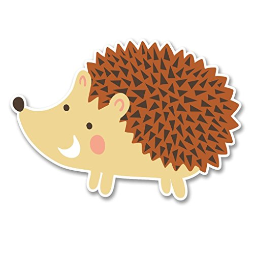 NI374 **2-Pack** Hedgehog Sticker/Decal | Premium Quality Vinyl Sticker | 4-Inches by 3-Inches