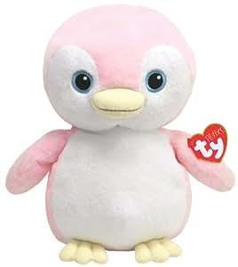 Ty 32136 - Ty Peluche - Pluffies - Pammy Pingüino rosa 25 cm