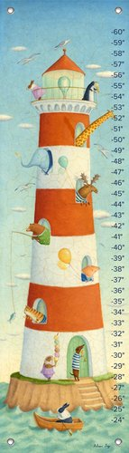 Oopsy Daisy Growth Charts Lighthouse Bay Buddies by Alison Jay, 12 by 42-Inch (Bay Daisy)