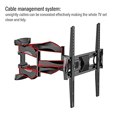 "Fleximounts Articulating Full Motion Tilt TV Wall Mount for Samsung/Coby/LG/TCL/Haier/VIZIO/Hisense/Sharp/Sony/Toshiba/Seiki LCD LED Tv 32""-50""(A20F 32""-50"")"