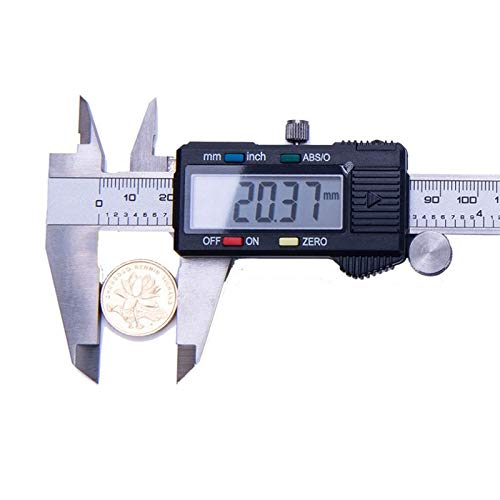 Pr/écision : 0,01 mm 150 mm Pied /à coulisse num/érique en acier inoxydable Avec /écran LCD R/ésistant aux /éclaboussures R/ésistant /à la poussi/ère