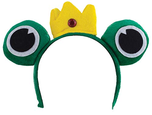Funny Fashion Frog Prince Headband Green ()