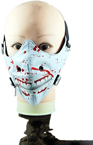 Qiu ping Men and women-style new ghoul punk mask drop oil gothic trend by Qiu ping