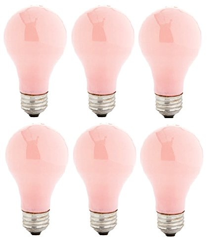 (Pack Of 6 60 Watt A19 Soft Pink Incandescent Medium Base Light Bulb)