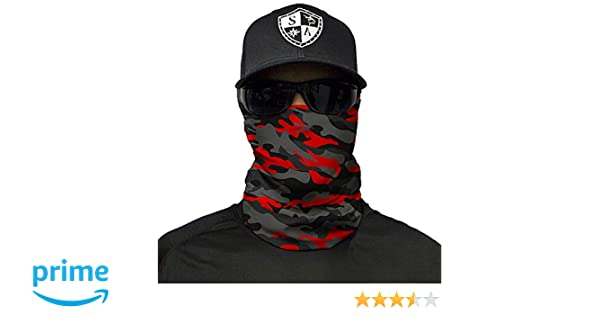 SA Fire Red Military Camo Frost Tech Fleece Face Shield Buy 2 Get 1 Free!!