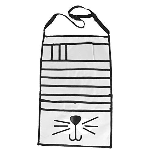 Door Hanging Organizer Multifunctional Large Capacity Wall Hanging Storage Bag Rooms Bathrooms Travel Storage Pocket for Gadget (#01 White Cat)