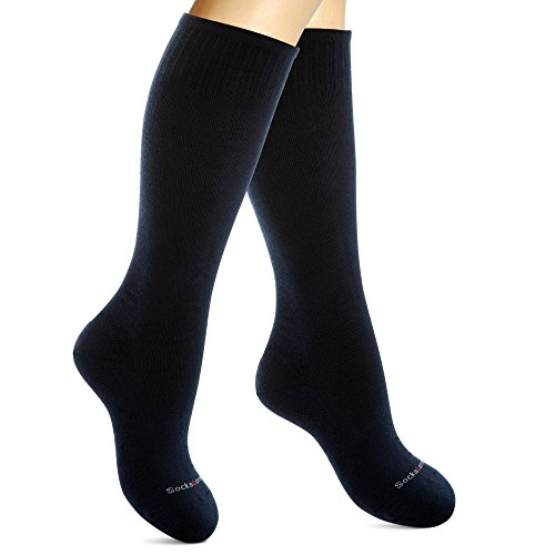 Cotton Compression Socks for Women. Graduated Stockings for Nurses, Maternity, Travel, Flight, Pregnancy, Varicose Veins, Calf Support. 15-20 mmHg Medical Circulation Hose. Knee High 1 -