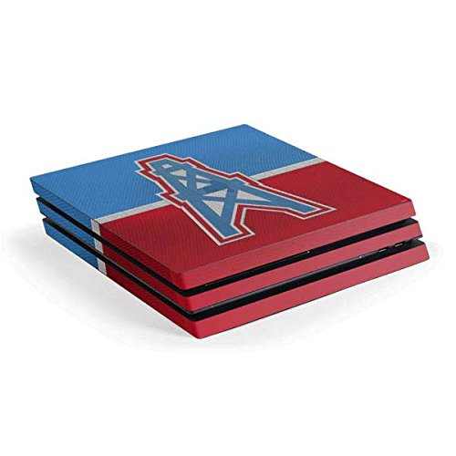 Skinit NFL Houston Texans PS4 Pro Console Skin - Houston Oilers Vintage Design - Ultra Thin, Lightweight Vinyl Decal Protection