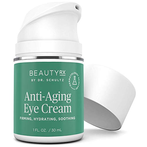 41f4kq6bH%2BL - BeautyRx by Dr. Schultz Eye Cream for Dark Circles, Bags, Wrinkles & Puffiness, Hyaluronic Acid & Green Tea, 1 oz