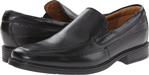 CLARKS Men's Tilden Free, Black Leather, 11 W