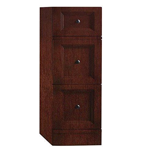 RonBow 621212 Marcello 12'' Hardwood Freestanding Bathroom Storage Drawer Bank, Cafe Walnut
