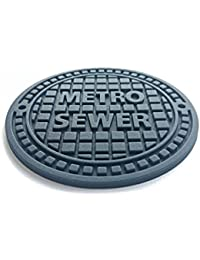 Get 100 Goods Set of 4 Silicone coasters Drainage Cover Non-slip Novelty - Gray offer