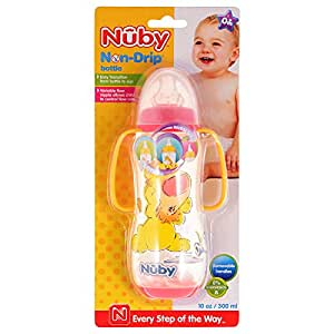Nuby 4416 Non-Drip Bottle, Red