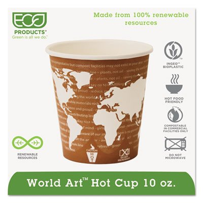 Eco-Products® World Art™ Hot Cups ECP EP-BHC10-WA