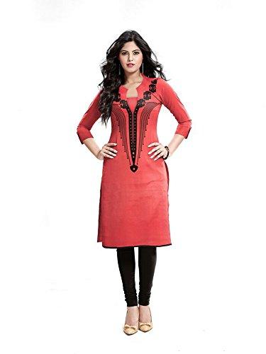 Jayayamala Damen Baumwolle Rosa Top Tunika / Soft Pink Tunika / plus Größe Partei zu tragen