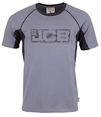 100/% coton taille XL gris//noir JCB Workwear Trade T-shirt