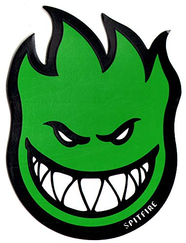 Spitfire Wheels Green Fireball Skateboard Sticker - Skate Board Flame fire Skate Skateboarding sk8
