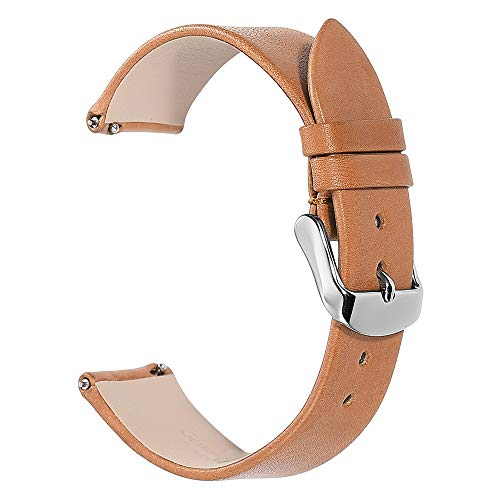 Watch Band Quick Release Leather Strap 18mm 19mm 20mm 21mm 22mm Replacement Ultra Thin Genuine Leather Mens Women WatchBands Silver Pin Buckle CHIMAERA