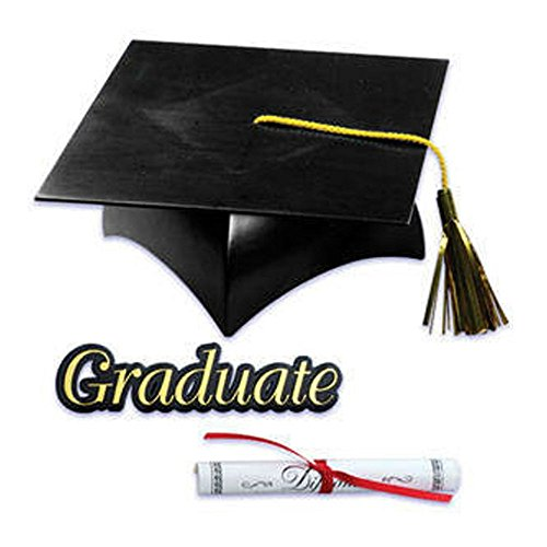 Graduate Cake Topper - Graduation Cap Hat Diploma Graduate Sign Cake Kit Cupcake Toppers Decorations