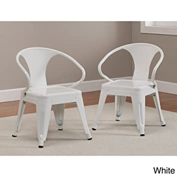 Good Kids Tabouret Stacking Chairs (Set Of 2) White.