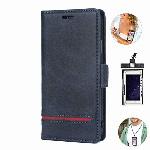 Dream2Fancy Leather Case for Samsung Galaxy Note 8 Premium PU Leather Kickstand Card Slots Case with Free Waterproof Bag
