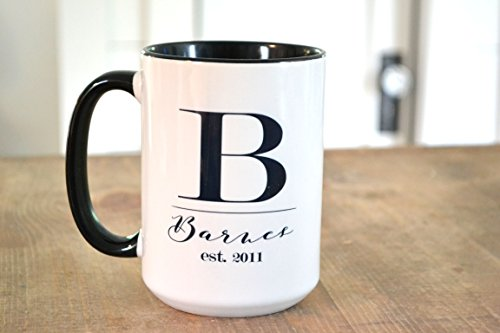 Personalized Cottage (Farmhouse | Coffee Bar | Bar Ware | Personalized Name Mugs | Kitchen Ware | Kitchen Decor | Cottage Chic Decor | Glass Ware)