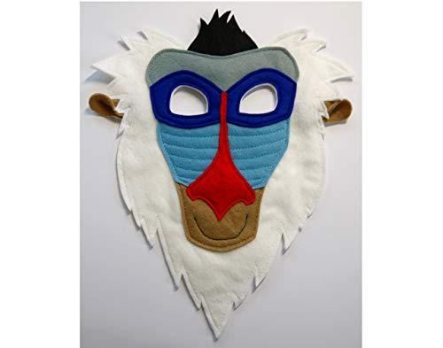 Rafiki costume mask, Mandrill monkey mask, kids