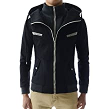 LCJ10 TheLees Mens Casual Slim Fit Hoodies Cotton Long sleeve solid Jacket