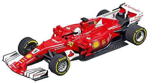 Carrera 20027575 Ferrari SF70H S. Vettel No. 5 1:32 Scale Analog Evolution Slot Car Racing Vehicle, Red