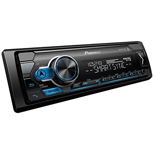 PIONEER Single DIN Car Receiver with Bluetooth, 2.0 inches