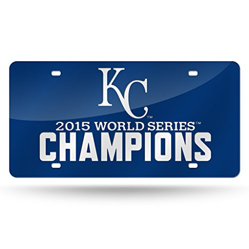 fficial MLB 12 inch x 6 inch 2015 World Series Champions Laser Cut License Plate by Rico Industries 890551 ()