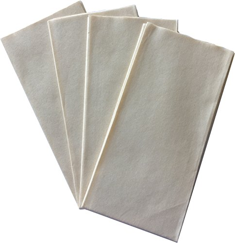 (Fortune 100% Bamboo Linen-Feel Disposable Guest Napkins Eco and Environment Friendly - 100 Pack - High-Quality Natural Fibers Perfect for Upscale Parties and Entertaining - 1/6 Fold - 14x12