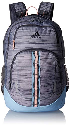 adidas Prime Backpack, Grey Two Looper/Onix Blue/Glow Pink, One Size