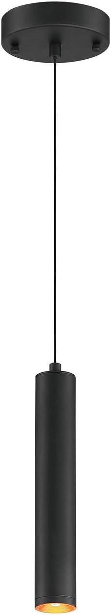 HomeFocus Dinning Lamp, Kitchen Chandelier,LED Pendant Lamp Light,Ceiling Lamp Light,Hang Lamp Light,Drop Light,LED 5Watt 3000K,Adjustable Height, Metal,Black,Top Quality,Suit for Bar,Dining Room,Re