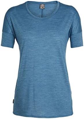 Icebreaker Merino damska koszulka Solace z wełny merynosÓw z niskim dekoltem Elements Short Sleeve Low Crew Neck Shirt: Odzież