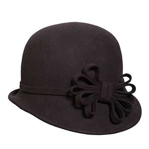 Conne (Brown Cloche Hat)