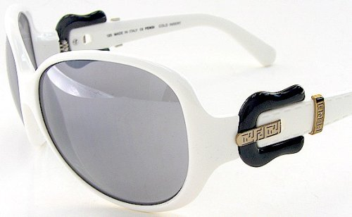 f3afd10422b2 New Fendi Sunglasses Fs382 Fs 382 105 Gray Lens White Frame Buckle Logo  Size:64-14-120: Amazon.co.uk: Clothing