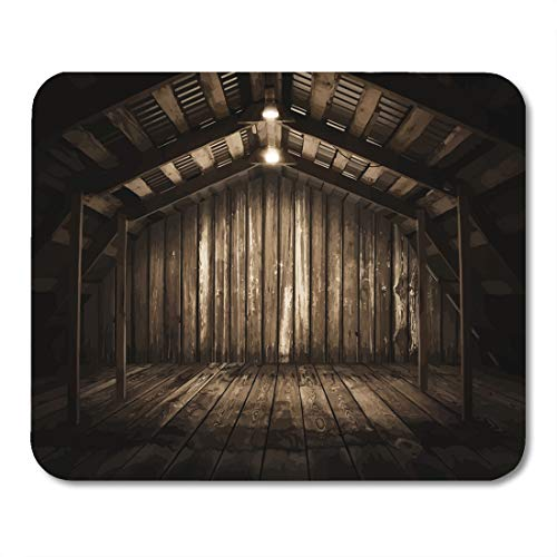 Vintage Floorboards - Emvency Mouse Pads Vintage Brown Interior Wooden Room Old Floorboard Wall Rusty Mouse Pad for notebooks, Desktop Computers mats 9.5