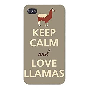 Generic Personalized Keep Calm and Love Llamas Hard Plastic Case Cover For Case Cover For SamSung Galaxy S5 Mini Inch Screen) Skin Protector Accessory