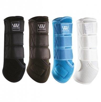NUOVO Woof Woof Woof Wear dressage Scialle - Protegge CAVALLI E PONY TENDINI E fetlocks - Bianco, MEDIUM 59ced8