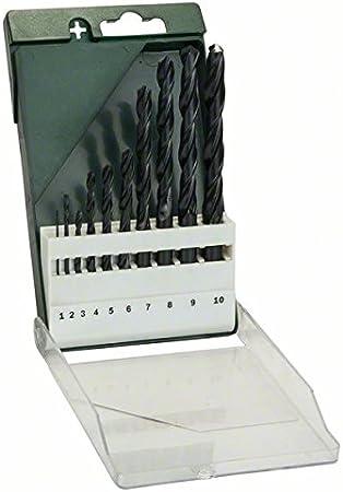 Bosch 2609255030 - Pack de 10 brocas para HSS-R, DIN 338: Amazon ...