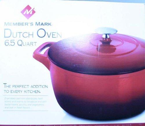 Members Mark Dutch Oven 6.5 Quart Red